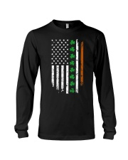 Womens IRISH AMERICAN Flag Ireland Flag ST Long Sleeve Tee thumbnail