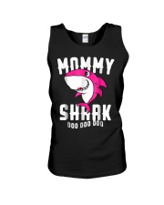 Mommy Shark T Shirt Mother Grandma Hallo Unisex Tank tile
