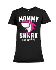 Mommy Shark T Shirt Mother Grandma Hallo Premium Fit Ladies Tee thumbnail