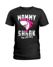Mommy Shark T Shirt Mother Grandma Hallo Ladies T-Shirt tile