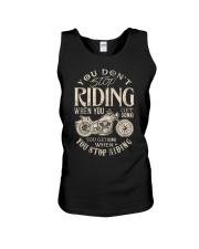 Motorcycle Rider biker You dont stop riding  Unisex Tank thumbnail