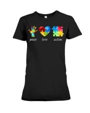 Peace Love Autism Awareness Long Sleeve  Premium Fit Ladies Tee thumbnail