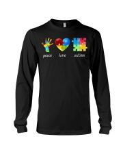 Peace Love Autism Awareness Long Sleeve  Long Sleeve Tee thumbnail