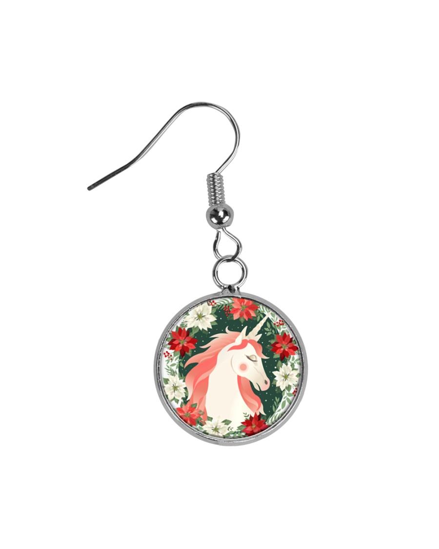 Unicorn  Circle Earrings