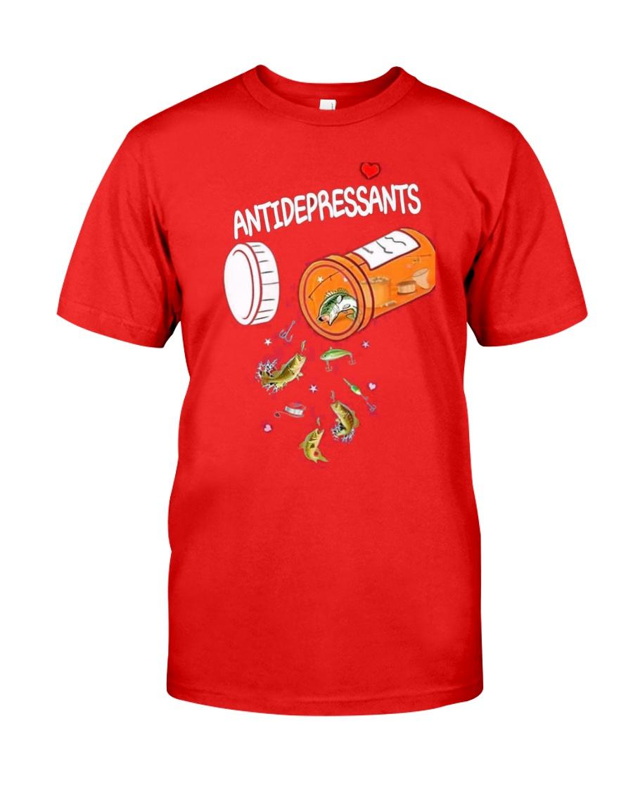 Anti depresent Fishing Classic T-Shirt