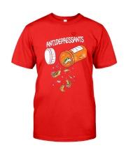 Anti depresent Fishing Classic T-Shirt front