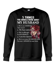 5 THINGS ABOUT MY HUSBAND Crewneck Sweatshirt thumbnail