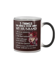 5 THINGS ABOUT MY HUSBAND Color Changing Mug tile