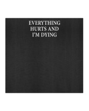 Everything Hurts and I'm Dying Cloth Mask Cloth face mask aos-face-mask-coverlet-lifestyle-front-02