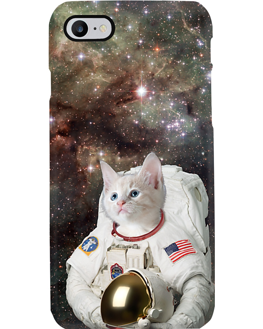 Catstronaut in Space Phone Case