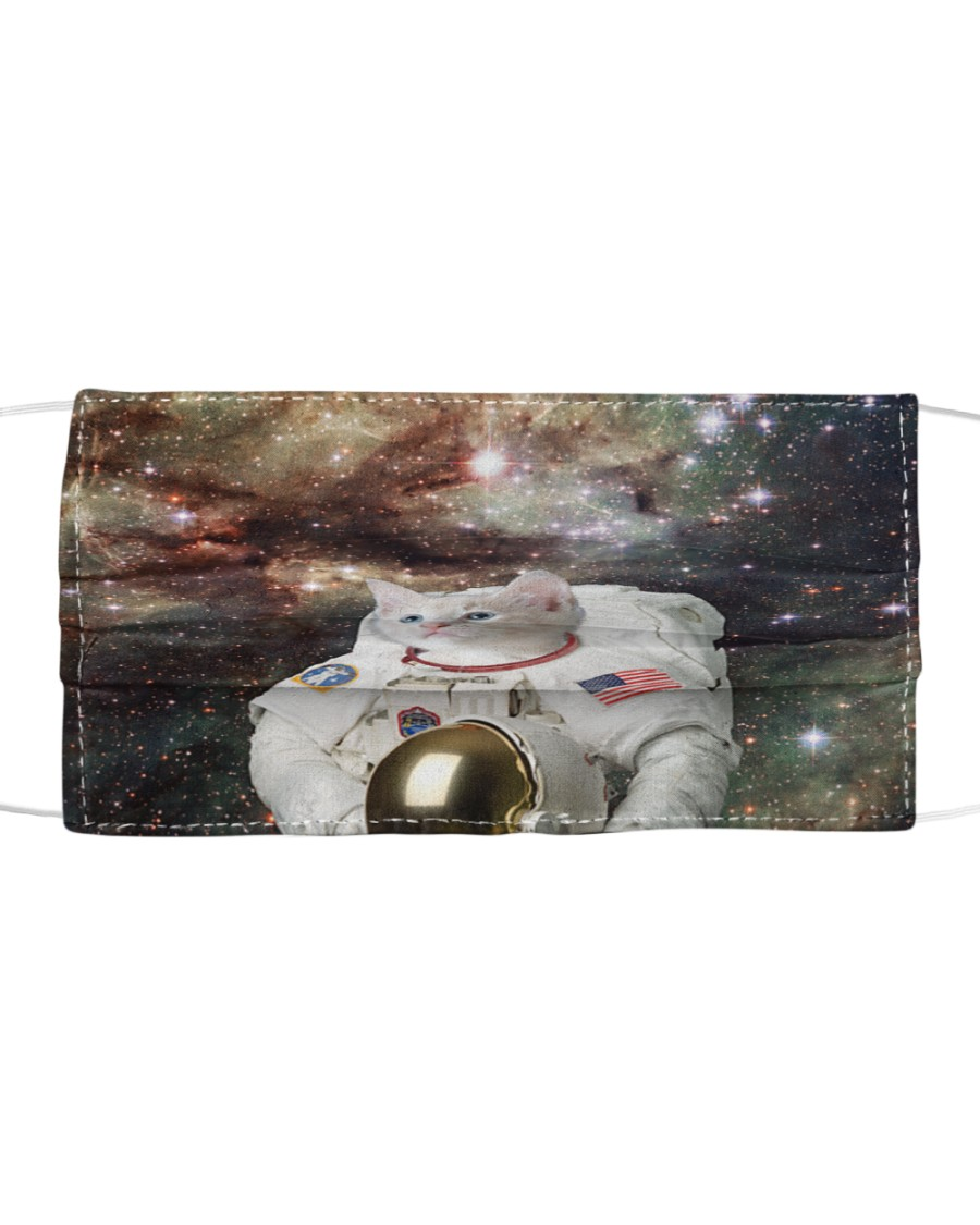 Catstronaut in Space Cloth face mask