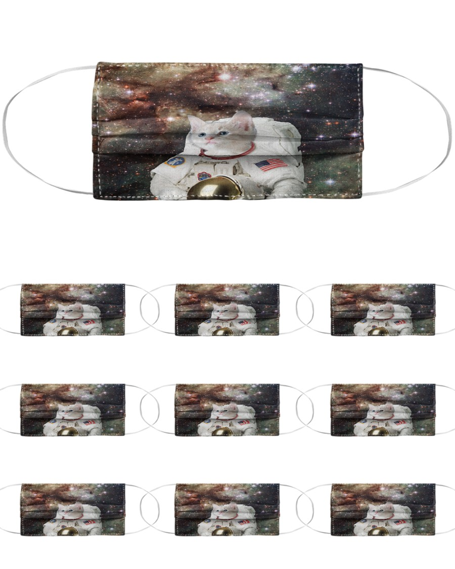 Catstronaut in Space Cloth Face Mask - 10 Pack