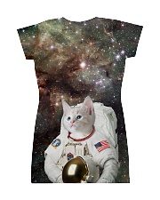 Catstronaut in Space All-over Dress back
