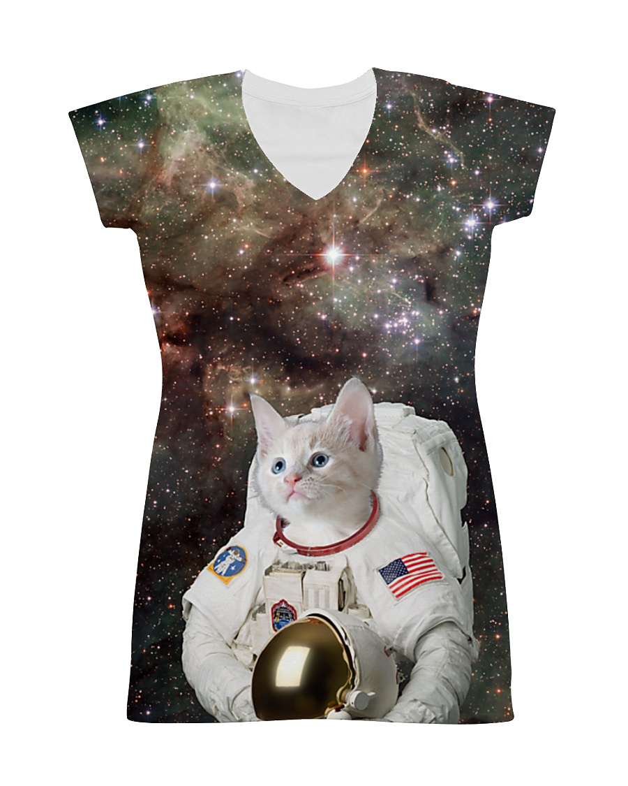 Catstronaut in Space All-over Dress