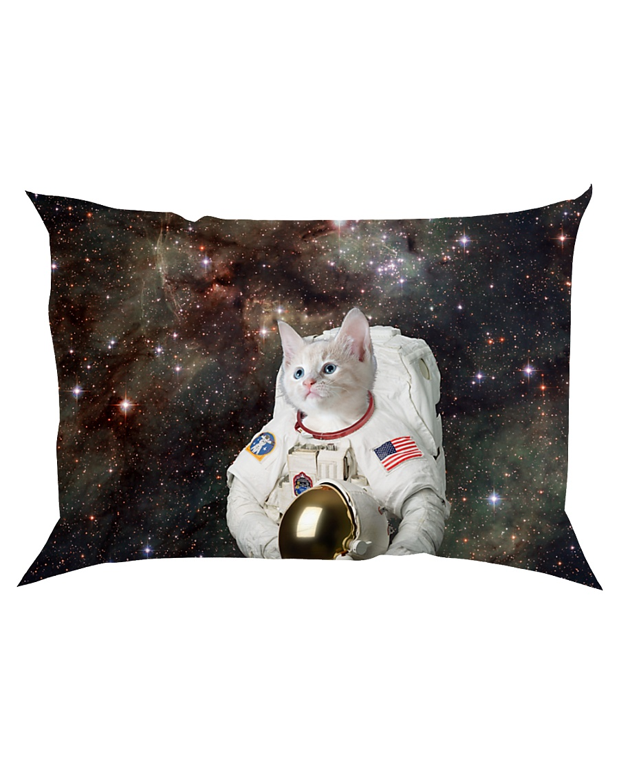 Catstronaut in Space Rectangular Pillowcase