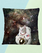 Catstronaut in Space Square Pillowcase aos-pillow-square-front-lifestyle-4