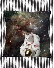 Catstronaut in Space Square Pillowcase aos-pillow-square-front-lifestyle-7