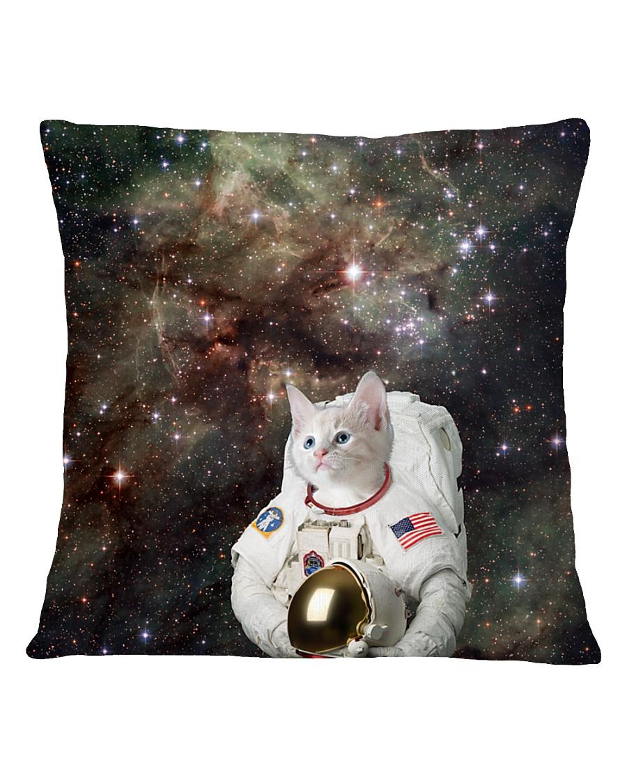 Catstronaut in Space Square Pillowcase
