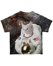 Catstronaut in Space All-over T-Shirt back