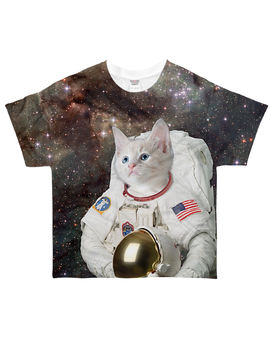 Catstronaut in Space All-over T-Shirt showcase