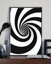 Hypnotic Spiral Wormhole All-Over Shirt 11x17 Poster lifestyle-poster-2