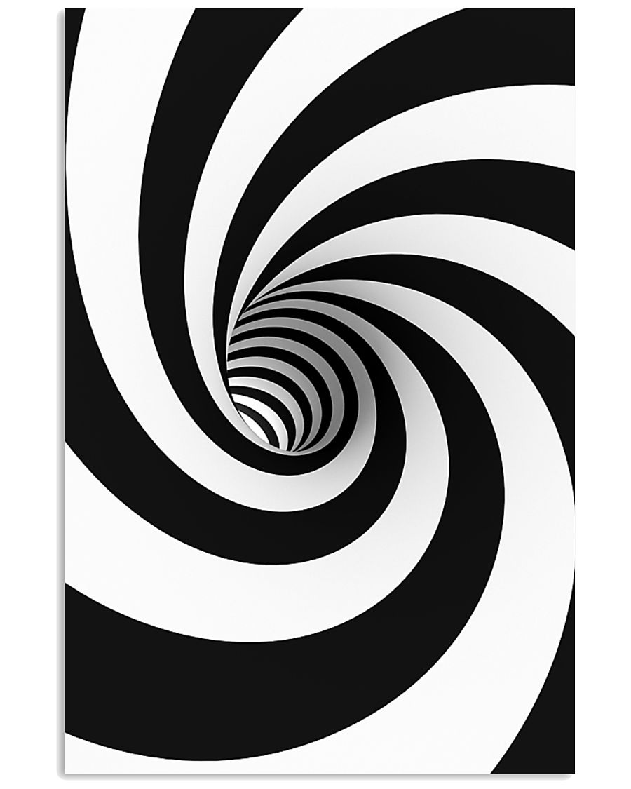 Hypnotic Spiral Wormhole All-Over Shirt 16x24 Poster