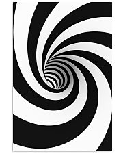 Hypnotic Spiral Wormhole All-Over Shirt 16x24 Poster front