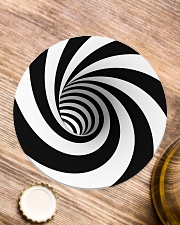 Hypnotic Spiral Wormhole All-Over Shirt Circle Coaster aos-coaster-round-front-lifestyle-1