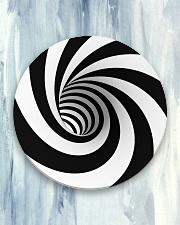 Hypnotic Spiral Wormhole All-Over Shirt Circle Coaster aos-coaster-round-front-lifestyle-5