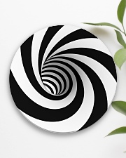 Hypnotic Spiral Wormhole All-Over Shirt Circle Coaster aos-coaster-round-front-lifestyle-6