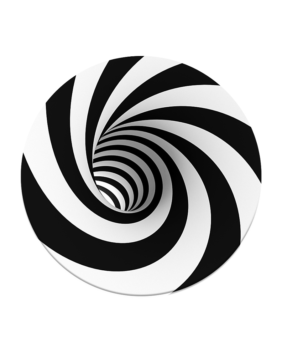 Hypnotic Spiral Wormhole All-Over Shirt Circle Coaster