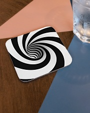 Hypnotic Spiral Wormhole All-Over Shirt Square Coaster aos-homeandliving-coasters-square-lifestyle-01