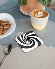 Hypnotic Spiral Wormhole All-Over Shirt Square Coaster aos-homeandliving-coasters-square-lifestyle-02