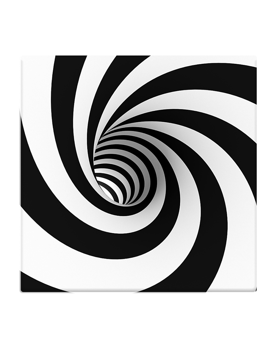 Hypnotic Spiral Wormhole All-Over Shirt Square Coaster