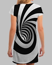 Hypnotic Spiral Wormhole All-Over Shirt All-over Dress aos-dress-back-lifestyle-3