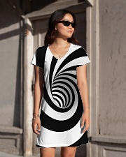 Hypnotic Spiral Wormhole All-Over Shirt All-over Dress aos-dress-front-lifestyle-1