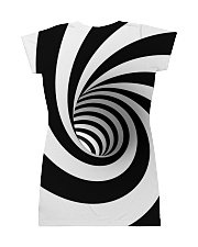 Hypnotic Spiral Wormhole All-Over Shirt All-over Dress back