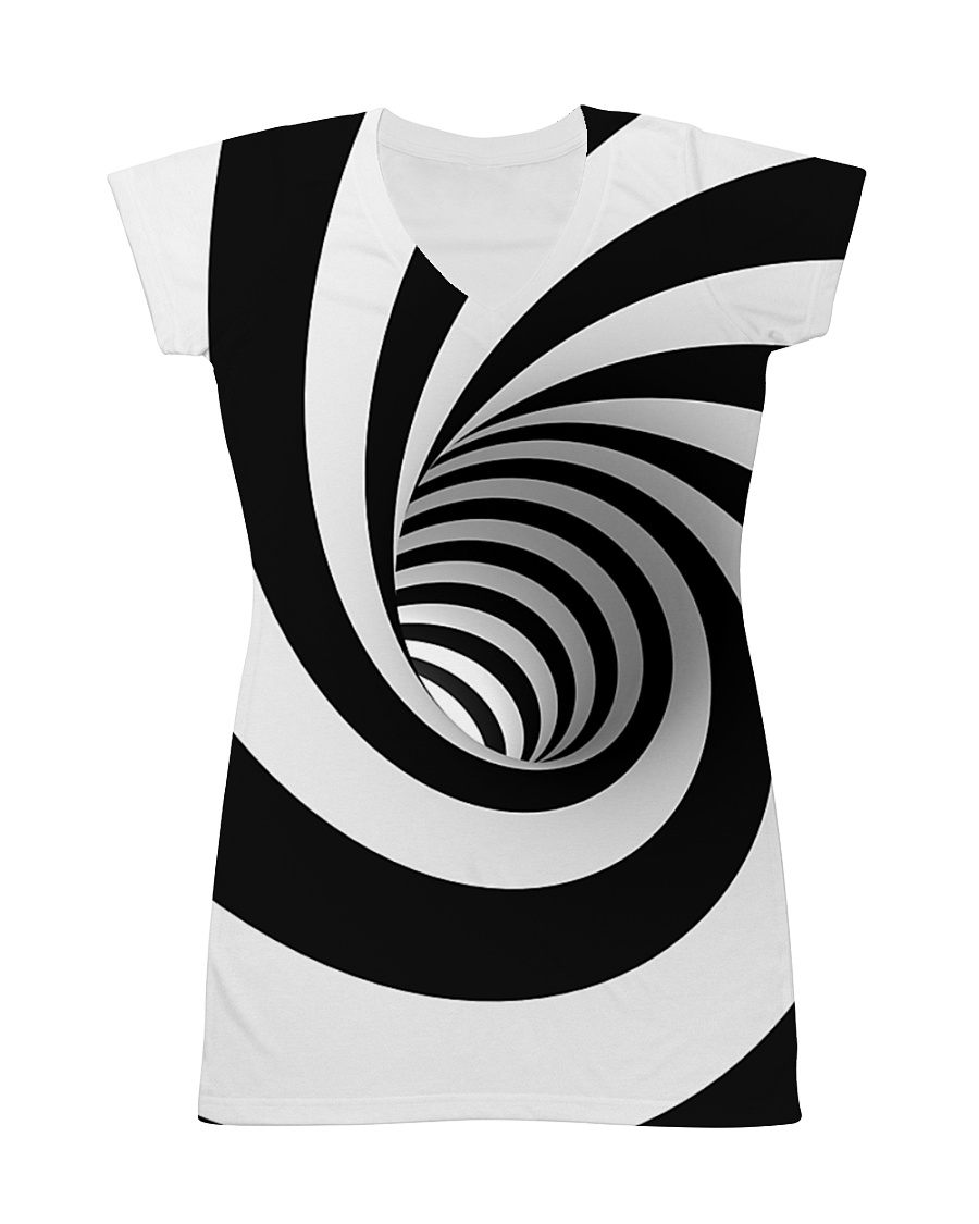 Hypnotic Spiral Wormhole All-Over Shirt All-over Dress