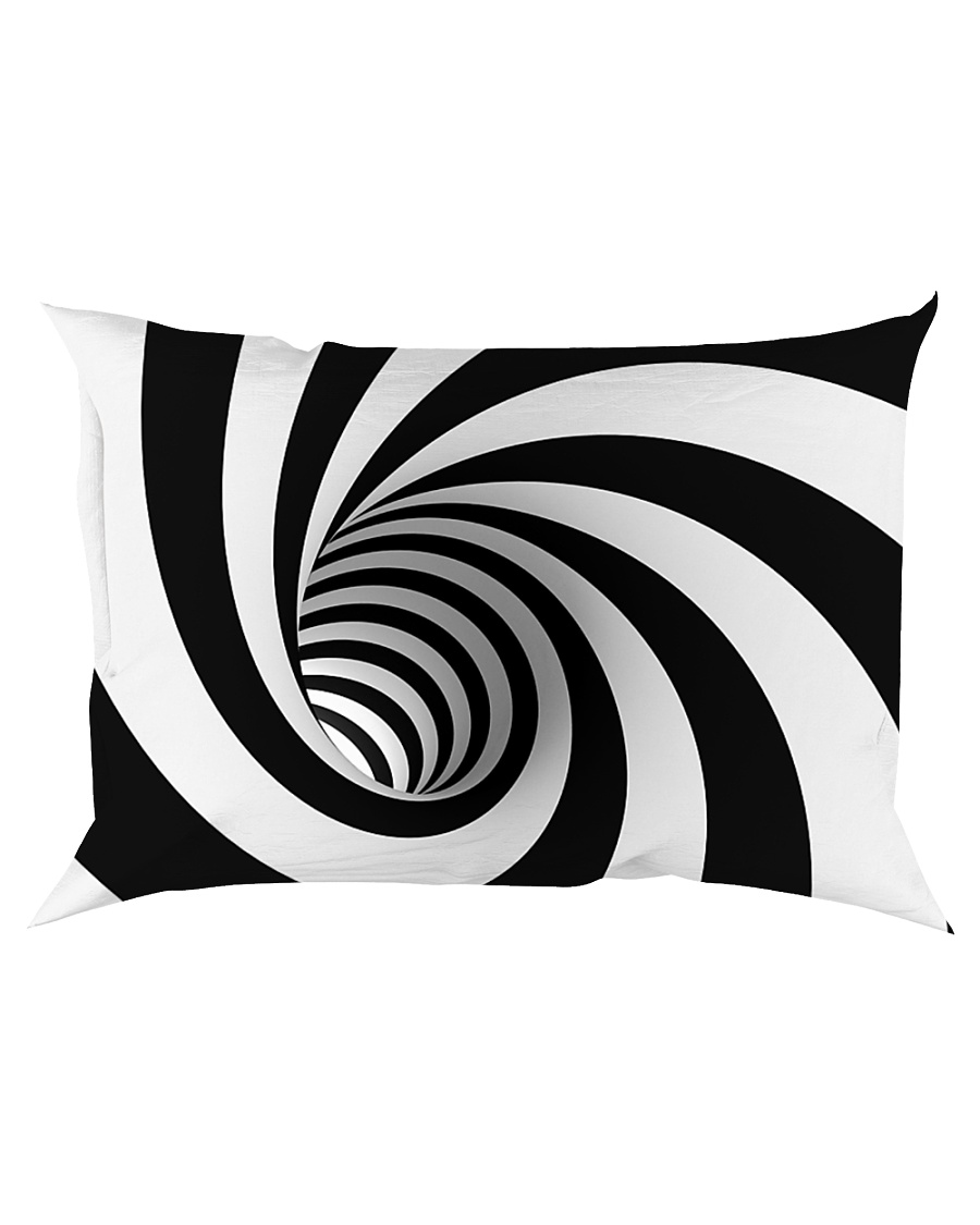 Hypnotic Spiral Wormhole All-Over Shirt Rectangular Pillowcase