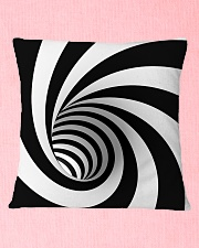 Hypnotic Spiral Wormhole All-Over Shirt Square Pillowcase aos-pillow-square-front-lifestyle-22