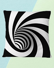 Hypnotic Spiral Wormhole All-Over Shirt Square Pillowcase aos-pillow-square-front-lifestyle-4