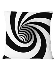 Hypnotic Spiral Wormhole All-Over Shirt Square Pillowcase back