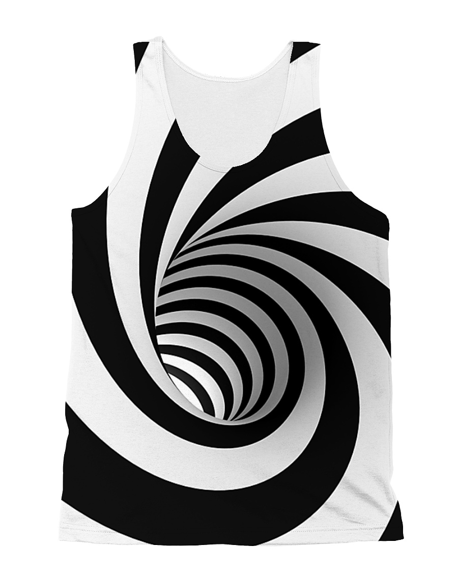 Hypnotic Spiral Wormhole All-Over Shirt All-over Unisex Tank