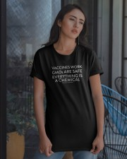 Vaccines work - GMOs are safe Classic T-Shirt apparel-classic-tshirt-lifestyle-08