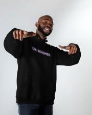 OK Boomer shirt - coffee mug - hoodie - more Hooded Sweatshirt apparel-hooded-sweatshirt-lifestyle-front-12