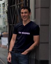 OK Boomer shirt - coffee mug - hoodie - more V-Neck T-Shirt lifestyle-mens-vneck-front-1