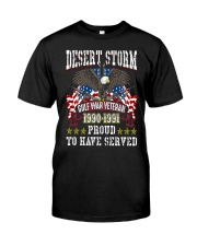 Desert Storm Gulf War Veteran Classic T-Shirt front