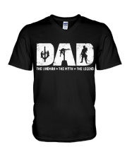 Dad - The Lineman V-Neck T-Shirt thumbnail