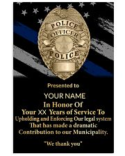 Police We thank you 24x36 Poster front