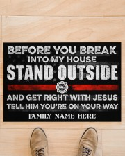 """Firefighter Before you break into my house 0604 Doormat 34"""" x 23"""" aos-doormat-34-x-23-lifestyle-front-02"""